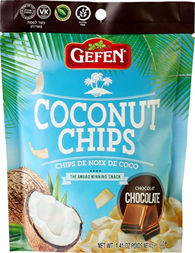 Gefen Coconut Chips, Chocolate 1.41oz (4 Pack) For Sale