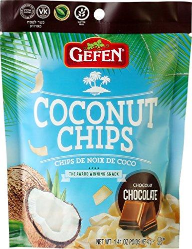 Gefen Coconut Chips, Chocolate 1.41oz (4 Pack)