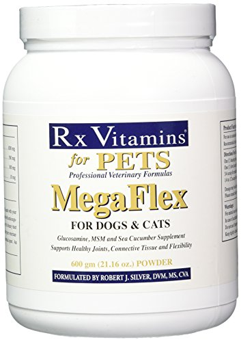 Rx Vitamins for Pets MegaFlex for Dogs and Cats - Glucosamine & MSM - Supports Joints Tissue & Flexibility - 600g Powder