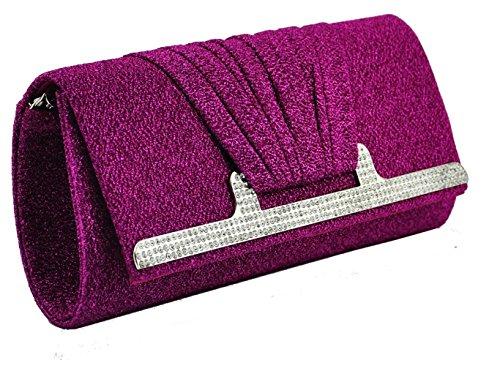 ANNA GRACE - Bolso pequeño al hombro de Material Sintético para mujer Design 1 - Fuchsia