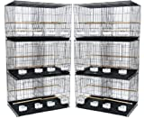 YML Small Breeding Cages, Pack of 6, Black
