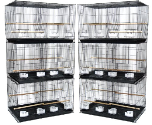 China YML Small Breeding Cages, Pack of 6, Black