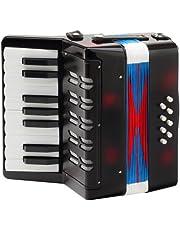 Classic Cantabile Bambino Nero akordeon dla dzieci, czarny (od 3 lat, 17 klawiszy, 8 basów, regulowane paski na ramię