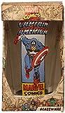 Silver Buffalo MC58031P Marvel Captain America Running Boxed Single Pint Glass, 16 oz., Clear
