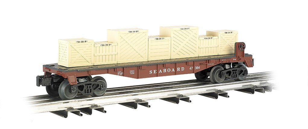 Williams by Bachmann Flat Car with Crates Seaboard - O Scale