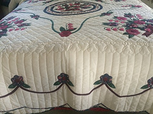 Amish Handmade Lilies of the Valley Quilt
