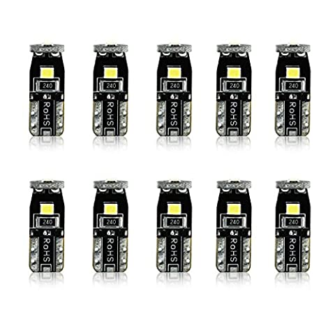 JDM ASTAR 10pcs Super Bright 194 168 175 2825 T10 PX Chipsets LED Bulbs,Xenon White (Best Value on the - 2005 Cadillac Cts