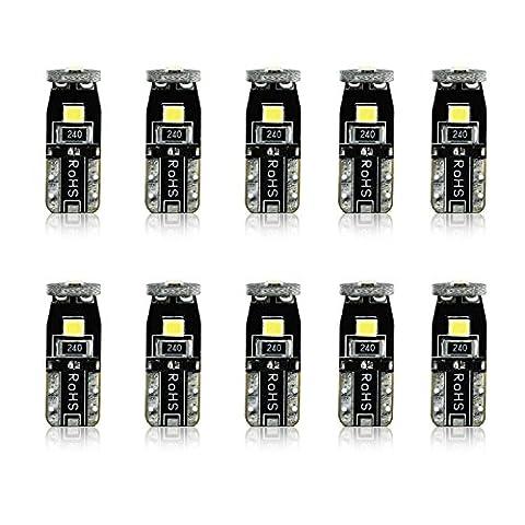 JDM ASTAR 10pcs Super Bright 194 168 175 2825 T10 PX Chipsets LED Bulbs,Xenon White (Best Value on the (2004 Infiniti M45)