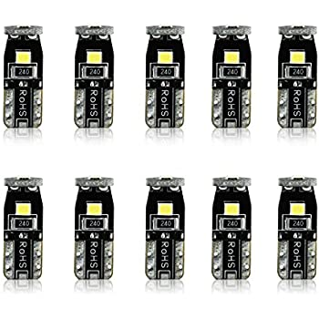JDM ASTAR 10pcs Super Bright 194 168 175 2825 T10 PX Chipsets LED Bulbs,Xenon White (Best Value on the market)