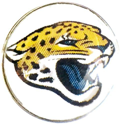 Nfl Logo Charm - Fashion Snap Jewelry NFL Logo Jacksonville Jaguars Snap Charm