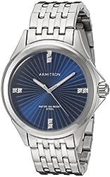 Armitron Men's 20/5086BLSV Swarovski Crystal Accented Silver-Tone Bracelet Watch