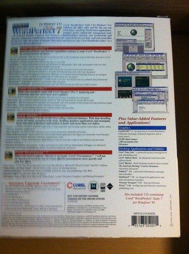 Corel Suite 7 for Windows 3.1x CD
