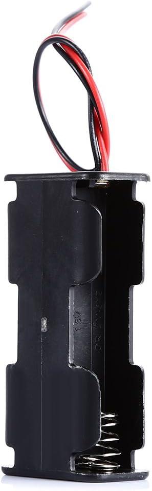 2 x AA Battery Double Deck//Back to Back Holder Case for Arduino Jane Ge 2019 Store LDTR-DJ001 DIY 3V 2-Slot