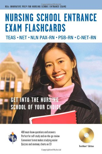 Nursing School Entrance Exams (TEAS) Flashcard Book Premium Edition w/CD-ROM (Nursing Test Prep)
