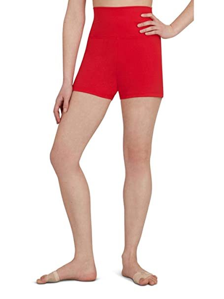 53fc25d9f2f Capezio Women's Team Basic High Waisted Short at Amazon Women's Clothing  store: