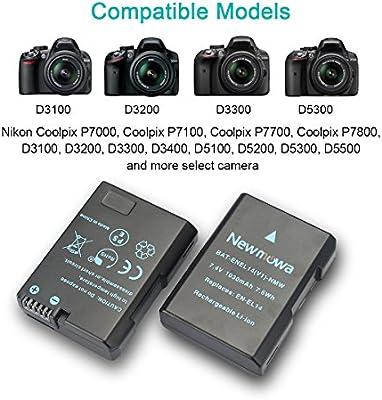 Newmowa EN-EL14 EN-EL14a Batería de repuesto (2-Pack) y Kit de ...