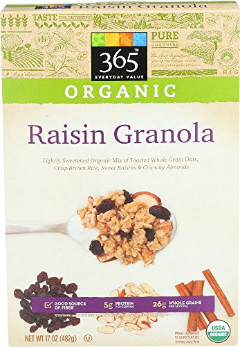 (365 Everyday Value, Organic Raisin Granola, 17 oz)