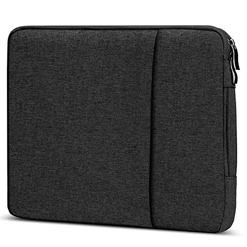Losong Protective Laptop Sleeve Briefcase Handbag Bag Compatible 13.3 Inch MacBook Air/Pro 13 Retina/Touch bar/Chromebook & Most 13' Computer, Water-Resistant Notebook Case,Black