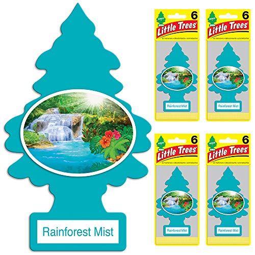 Air Rainforest Freshener (Little Trees auto air freshener, Rainforest Mist, 6-Packs (4 Count))