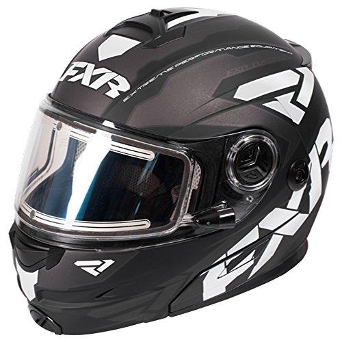 FXR Fuel Modular Elite Helmet W/Electric Shield Polycarbonate Alloy Snowmobile - Black/White/Char - - Helmet Snowmobile 16