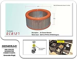 generac guardian air filter 0c8127 generac. Black Bedroom Furniture Sets. Home Design Ideas
