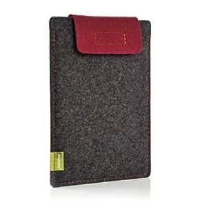 Almwild funda con tapa para Apple iPad Air/apto para curar o Smart Cover/Slate-gris con un burdeos solapa de cierre/para iPad Air/5