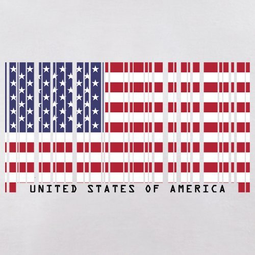 USA / Vereinigte Staaten von Amerika Barcode Flagge - Herren T-Shirt - Weiß - XXL