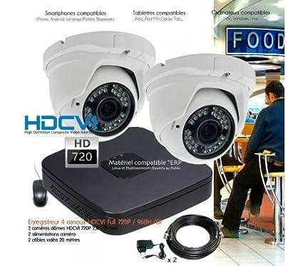 Hyundai – Sistema de Monitoreo HD 720P con 2 Cúpula varifocales – Kit – dvr339 –
