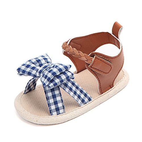 Antideslizantes Tartán Para Barato Niñas Pequeñas Zapatos Sandalias Cuna Princesa Zarupeng top Suave Nbyshop Arco De mN0Owyvn8