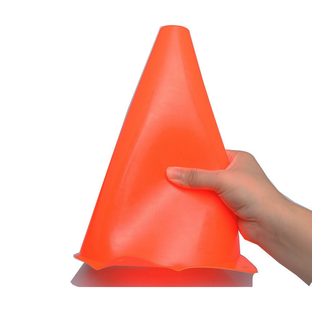 9 inch Orange Traffic Cones 10 Pack of Field Marker Cones for Outdoor Activity /& Festive Events Ellien