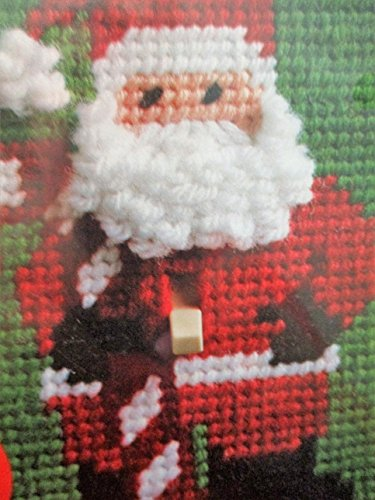 WonderArt Printed Plastic Canvas Instructions Kit ... Santa Switchplate Cover