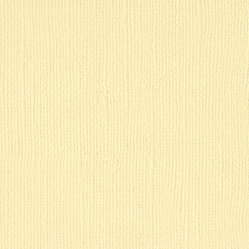 Bazzill Chiffon 12x12 Textured Cardstock | 80 lb Light Yellow Colored Scrapbook Paper | Premium Card Making and Paper Crafting Supplies | 25 Sheets per Pack Bazzill 12x12 Cardstock Light