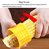 Picture of HaloVa Cob Corn Stripper, Corn Stripping Tool, Creative Home Kitchen Corn Cob Cutter Corn Peeler Cob Remover Corn Shucker, Plastic
