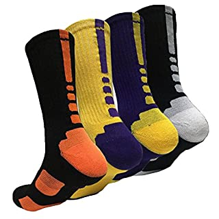4 Pack Men's Cushioned Basketball Dri-Fit Athletic Compression Long Sports Outdoor Dress Socks Size (B071JNBBT3)   Amazon price tracker / tracking, Amazon price history charts, Amazon price watches, Amazon price drop alerts