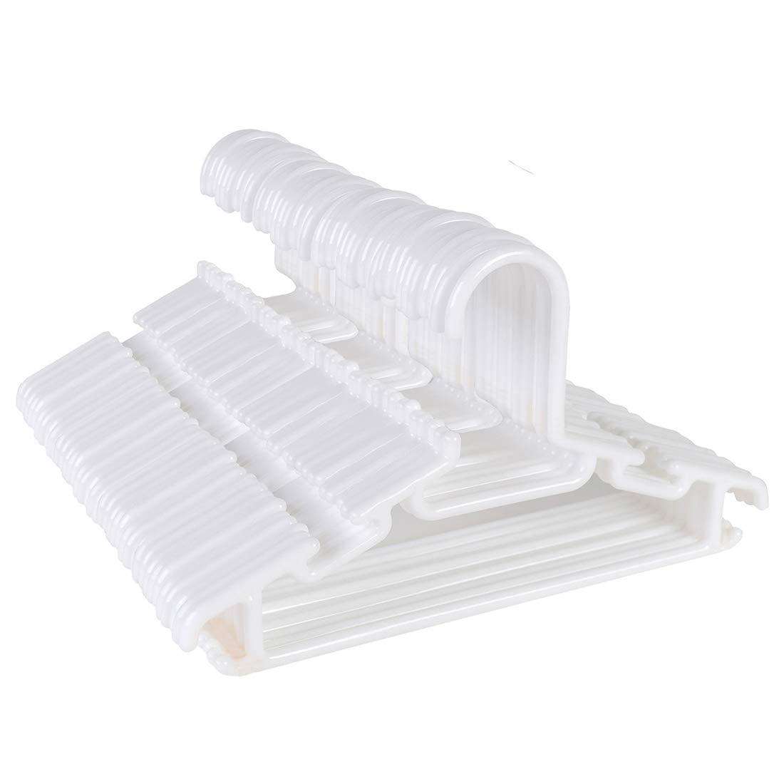 Tosnail 40 Pack Plastic Children's Hangers - White T-ChildrenHangers-30Pack