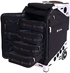 ZUCA Pro Artist Wheeled Case with Built-in Seat, 4 Large and 1 Small