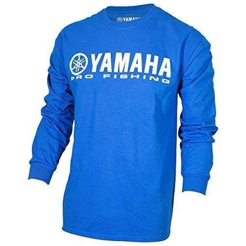 Long Sleeve Fishing Shirt Cotton (OEM Yamaha Pro Fishing 100% Cotton Long Sleeve Blue T-Shirt Medium)
