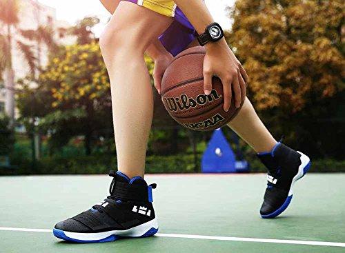 Sneaker Da Uomo E Da Donna Sneakers Autunno Nuovi Ammortizzanti Traspiranti Scarpe Da Basket Alte Top Modelli Paio Nero Blu