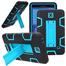 Galaxy Tab 4 7.0 Case, Asstar High Impact Resistant Full-body Protection Hybrid Armor Defender Case Convertible Built in Stand for Samsung Galaxy Tab 4 7.0 [SM-T230] (Black blue)