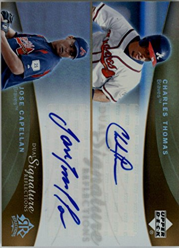 - 2005 Reflections Dual Signatures #CTJC Charles Thomas Jose Capellan Auto - NM-MT
