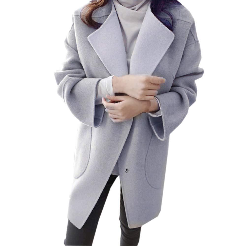 Ladies Winter Warm Woolen Coat Trench Parka Jacket Casual Overcoat Outwear KIKOY