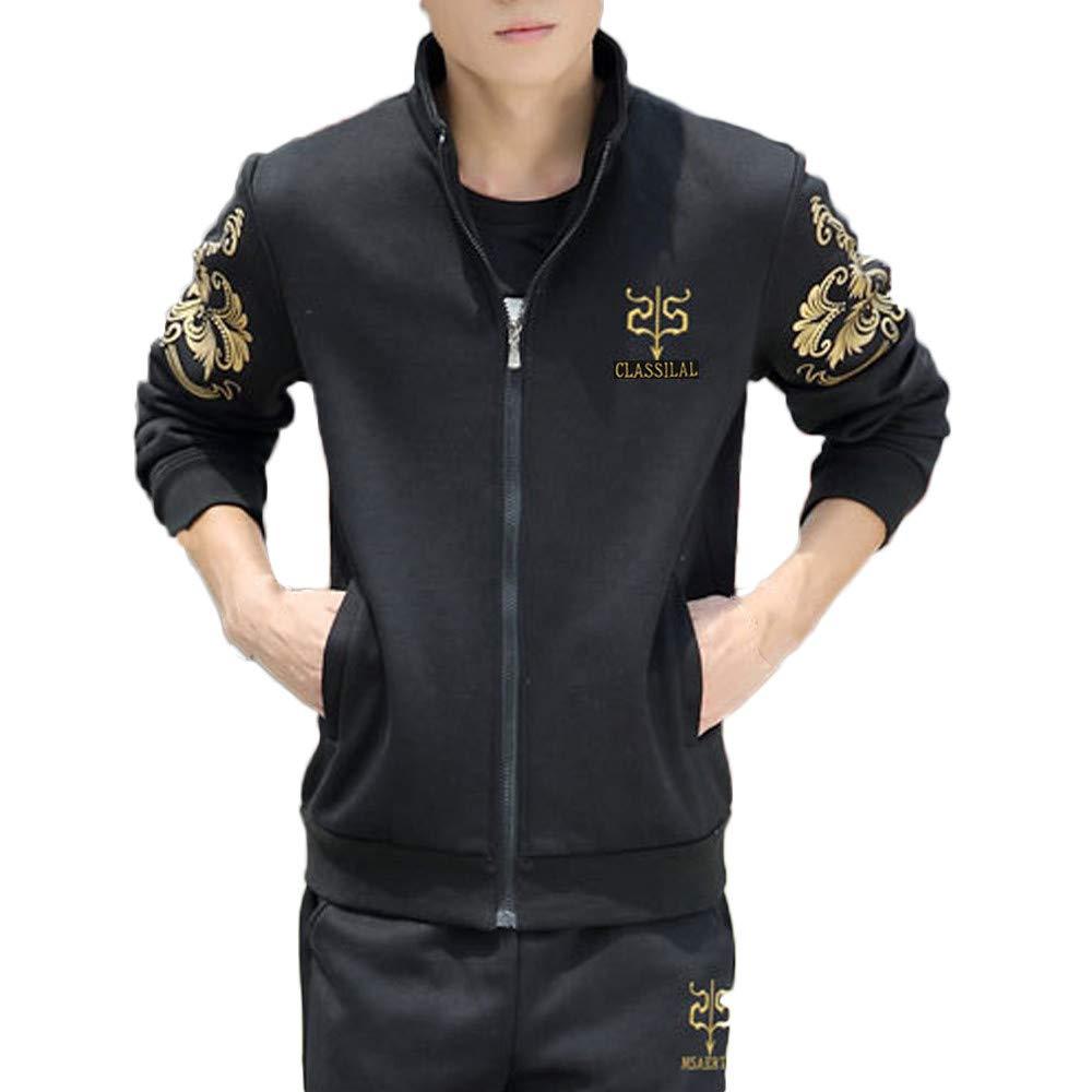Corriee Fashion Men 2018 Autumn Winter Leisure Zipper Sports Suit Tracksuit Classic Sweatshirt Top Pants Sets
