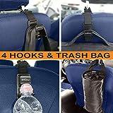 B-comfort Headrest Hooks for Car-Best Car Accessories for Women-Front Back Seat Purse Hanger Holder-Backseat Organizer for Backpack,Handbag,Grocery,Hat,Jacket,Coat-4 Pack-FREE Bonus Car Trash Bag