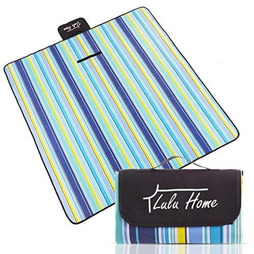 Lulu Home Picnic Blanket, Extra Large Outdoor Waterproof Blanket 60