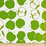 Oil Cloth Solvang Lime Fabric By The Yard by OilCloth International