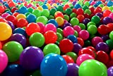 "DreambuilderToy 2nd Generation Phthalate Free Large 2.36"" Plastic Pit Balls, Free BPA, Free Crush Proof Plastic Ball, 5 Bright Colors, 108 Balls"