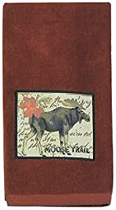 Kay Dee Designs R0758 Wilderness Trail Moose Applique Terry Towel