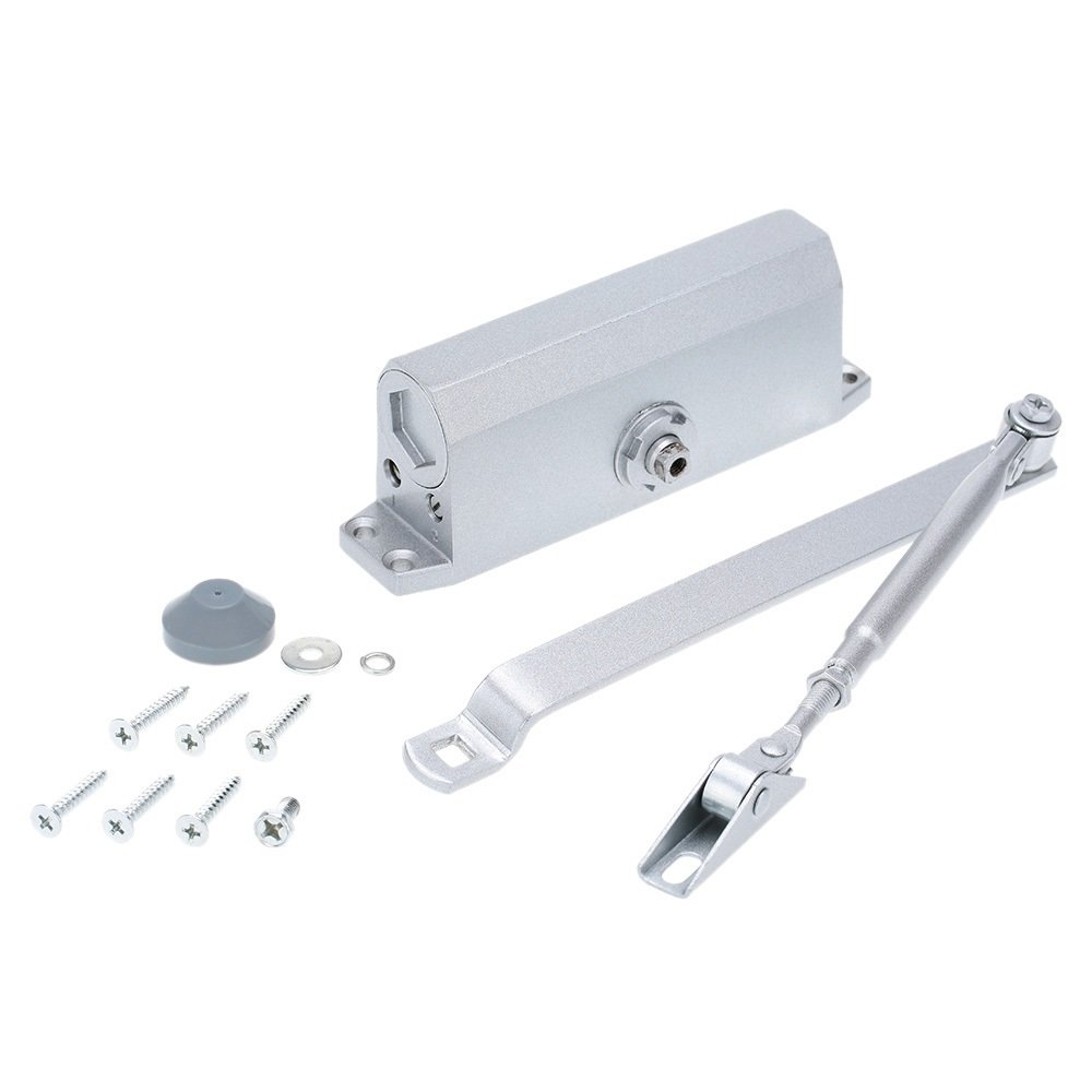 Home Office Doors Stainless Steel Automatic Hydraulic Arm 45-65KG Mini Door Closer Mechanical Speed Control Ship from USA