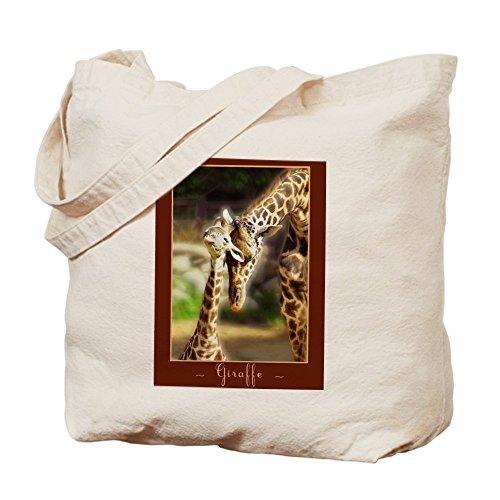 Cafepress–Giraffe MOM Baby–Borsa di tela naturale, tessuto in iuta