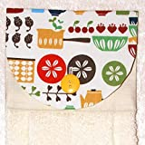 Product review for Hanging Hand Towel - Vintage Lotus Dish Print With Plush Ivory Towel And Button